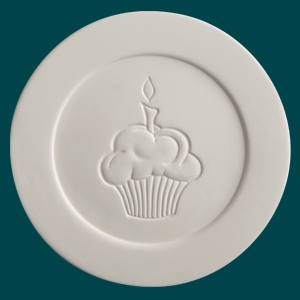 29051 Duncan Bisque CupcakePlate
