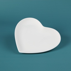 30614 Duncan Bisque SM Heart Plate