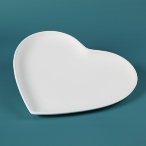 30615 Duncan Bisque Lg Heart Plate