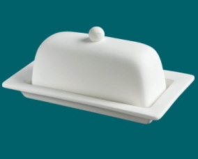Duncan Bisque 29206 Rimmed Butter Dish
