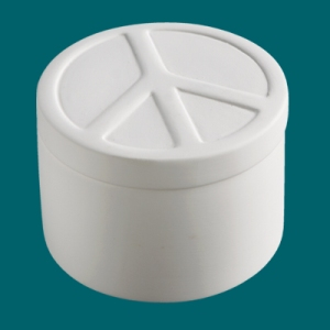Duncan Bisque 29223 Peace Sign Box