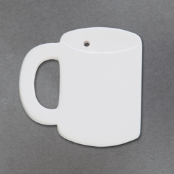 Duncan Bisque 34393 coffee cup ornament