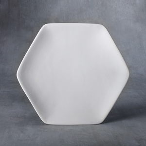 Duncan Bisque 37472 honeycomb dinner plate