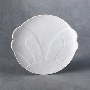 Duncan Bisque 37475 bumble bee plate