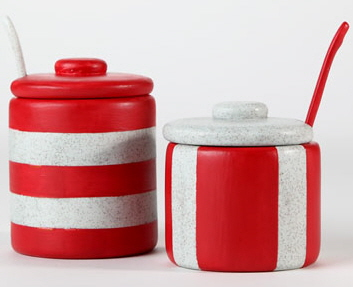 Duncan Bisque FP Condiment Containers