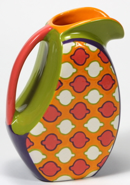 Mayco Bisque FP patternedovalpitcher