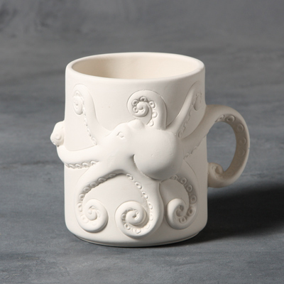Mayco Bisque MB1408 Octopus Mug