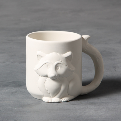 Mayco Bisque MB1414 Raccoon Mug