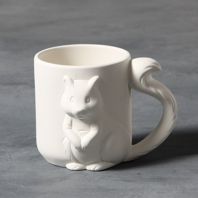 Mayco Bisque MB1415 Squirrel Mug