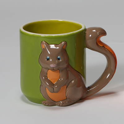 Mayco Bisque MB1415 Squirrel Mug FP