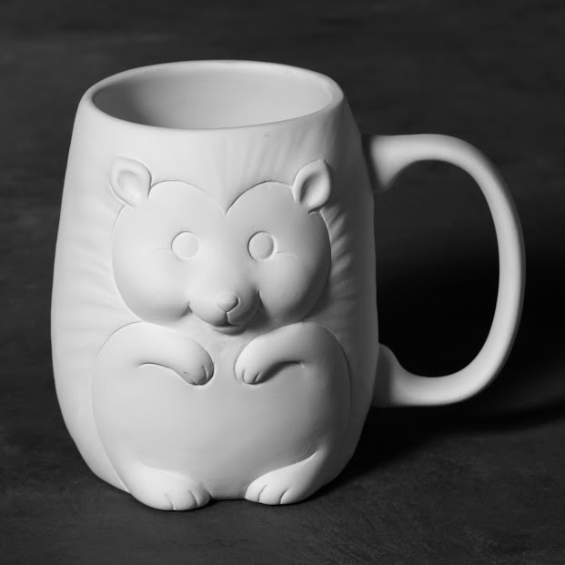 Mayco Bisque MB1469 Hedgehog Mug