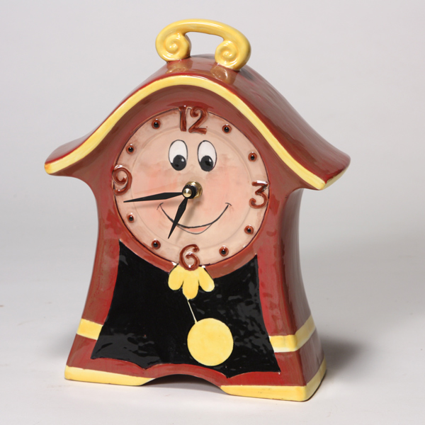Mayco Bisque MB1490 Whimsical Clock FP