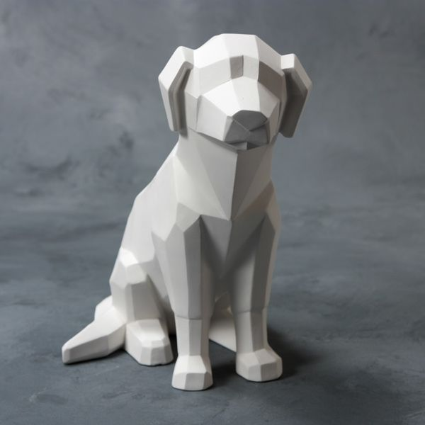 Mayco Bisque MB1516 Faceted Dog