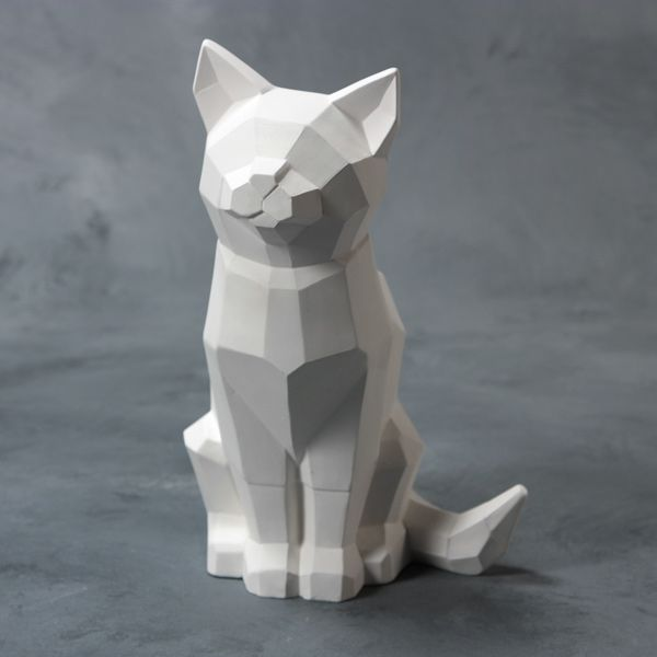 Mayco Bisque MB1517 Faceted Cat