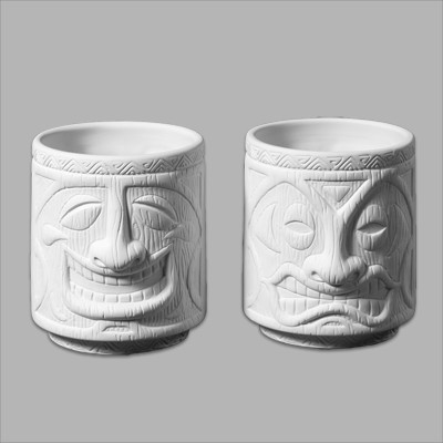 Mayco Bisque Tiki Cups MB1383