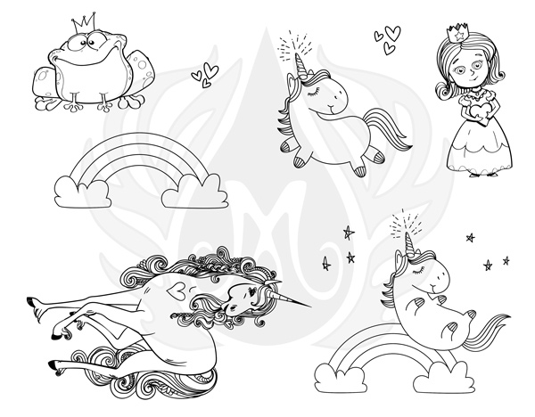 Mayco Silkscreen DSS146 Princess Unicorns